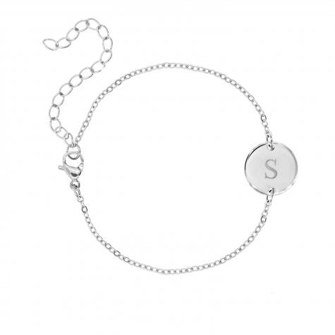 Zilveren  Armband met Initial