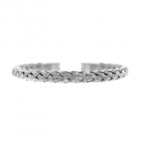 Zilveren Braided Bangle