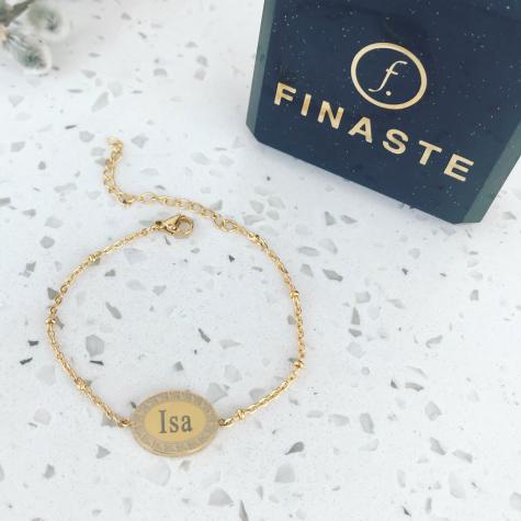 mandala armband met naam goud