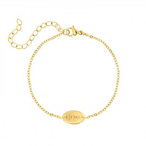 Trendy armbandje met 4 letters goud