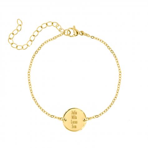 Familie naam armband goud