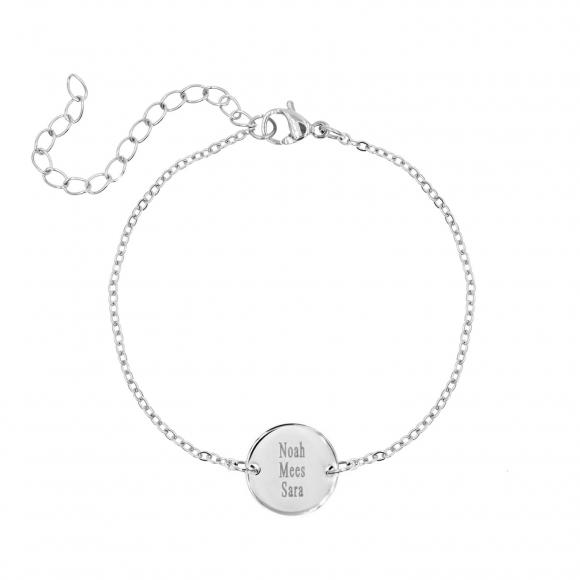 Familie naam armband zilver