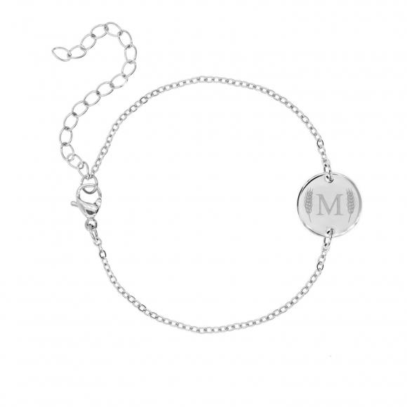 Armband met letter zilver