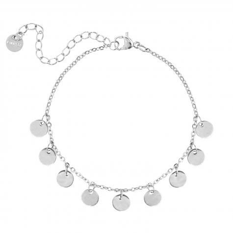 Armband met muntjes zilver
