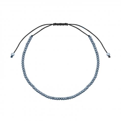 Kralen armband blauw