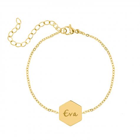 Naam armband sierletters goud