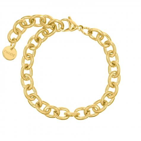 Basis schakel armbandje goud