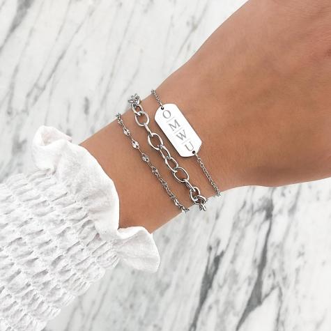 Schakel Armband Basic Zilver