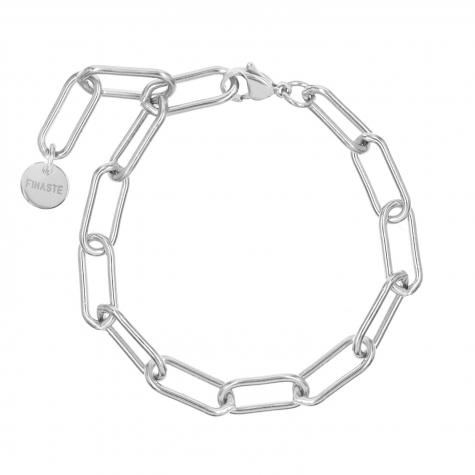 Zilveren schakelarmband lange schakels