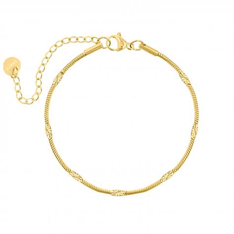 Goud fijn gedraaid armbandje