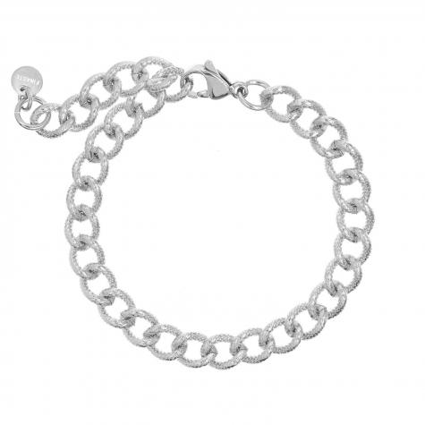 Zilveren trendy chain armband