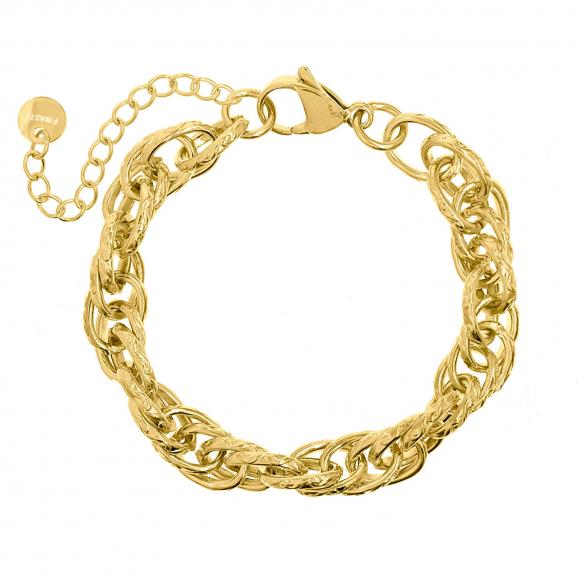 Gouden gevlochten schakelarmband