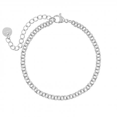 Zilveren armband met dubbele schakeltjes