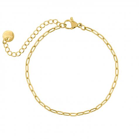 Gouden minimalistische chain armband