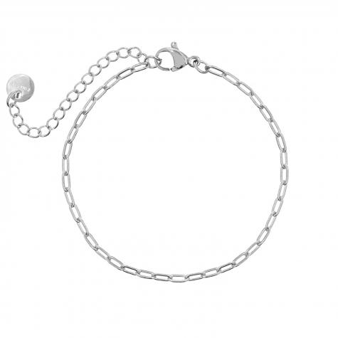 Zilveren minimalistische chain armband