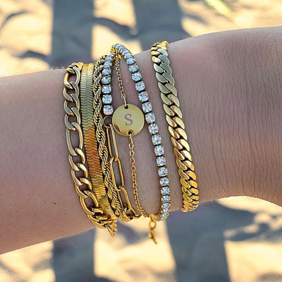 goudkleurige armbanden mix