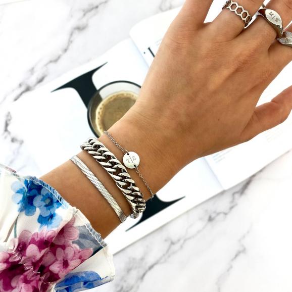 Trendy zilveren set van sieraden