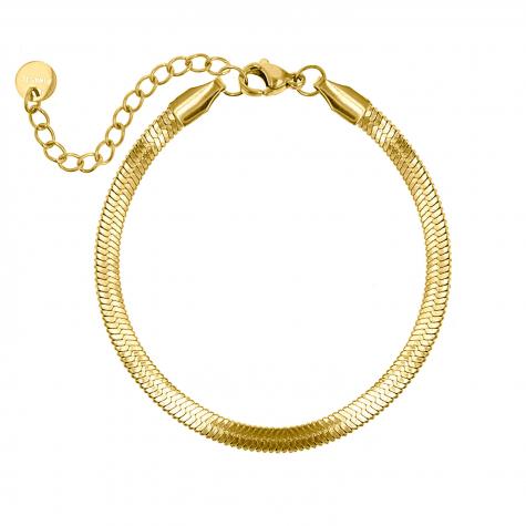 Plat armbandje goud