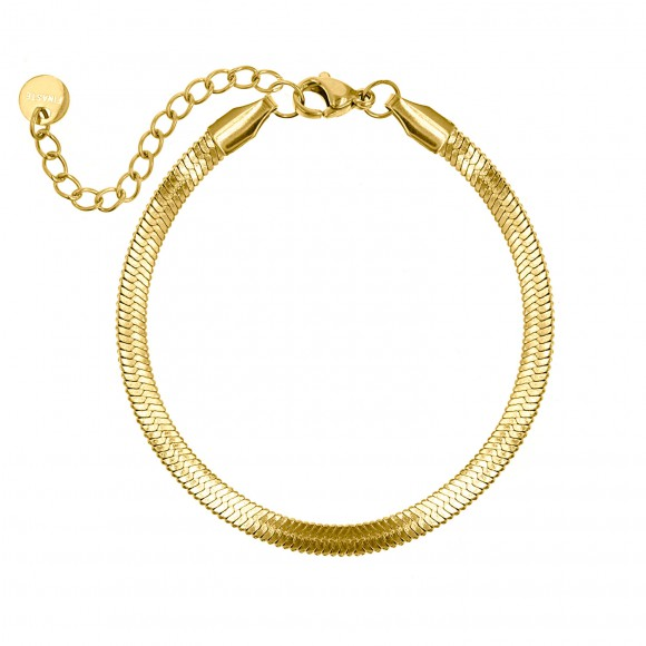 Plat armbandje goud kleurig
