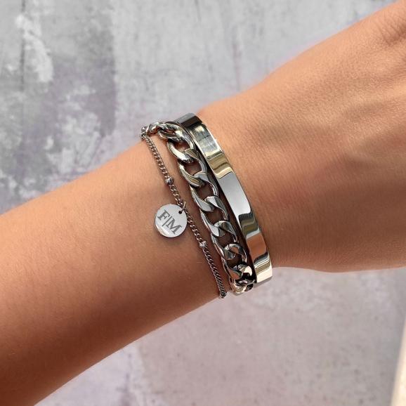 Graveerbare Armband Met Muntje