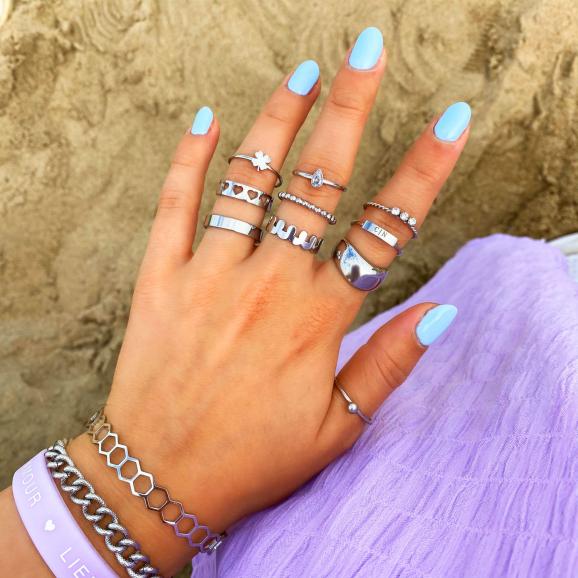 zilveren sieraden look