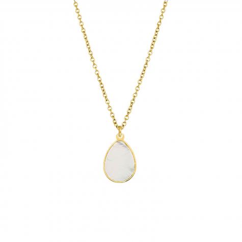 Ketting druppel pearl goud kleurig
