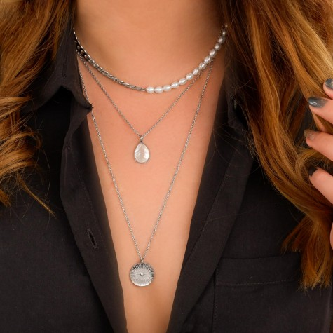 Ketting druppel pearl