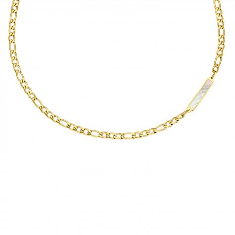 Ketting Chain & Sea shell bar goud kleurig