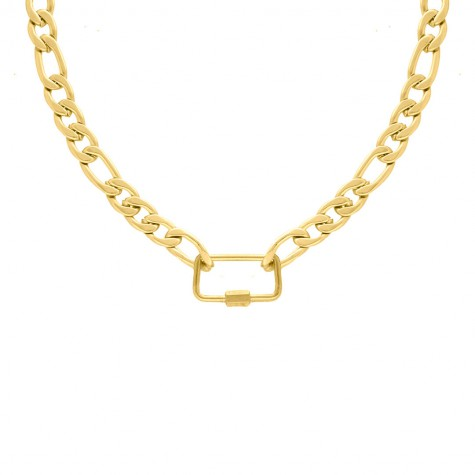 Mixed chain ketting statement goud kleurig