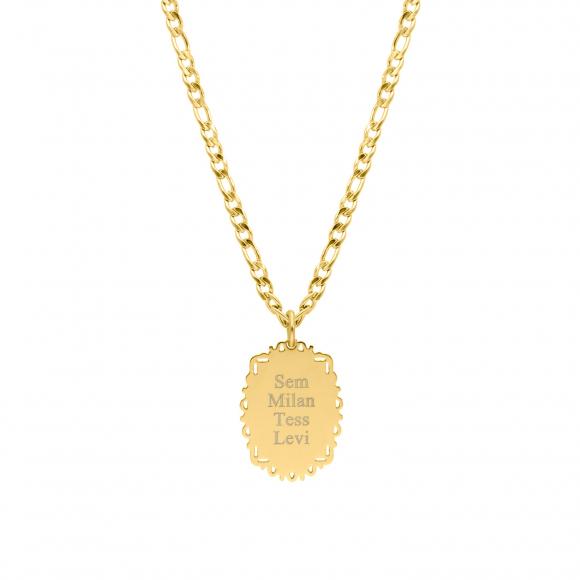 Gepersonaliseerde naam ketting vintage goud kleurig