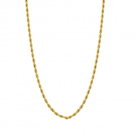 Lange ketting gedraaide chain goud kleurig