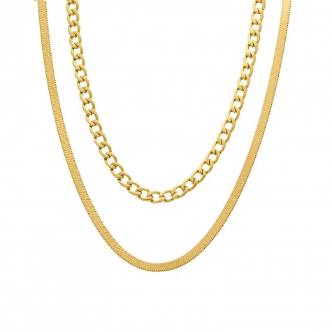 Layer ketting goud kleurig