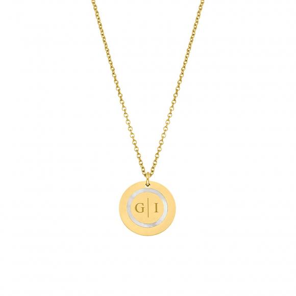 Ketting 2 initials luxury kleur goud