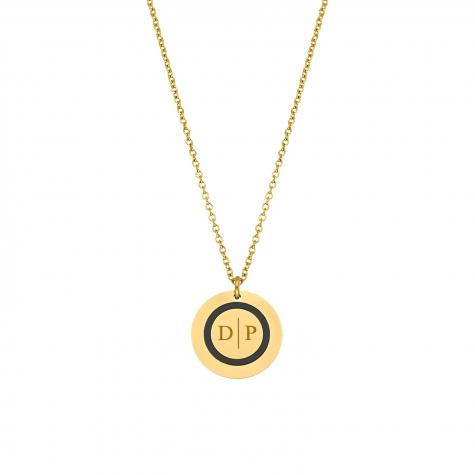 Ketting 2 initialen goud kleurig
