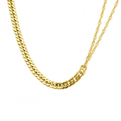 Ketting musthave chain mix goud kleurig