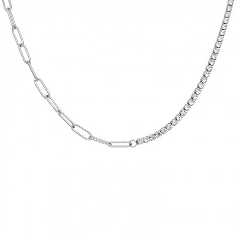 Tennis necklace met schakels