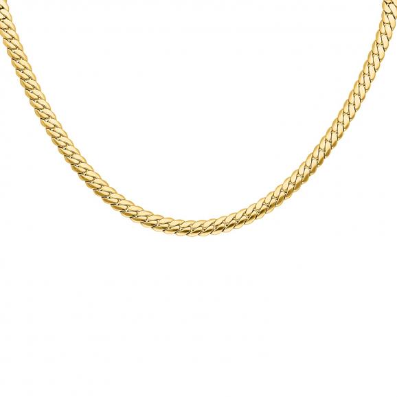Ketting platte chain goud kleurig