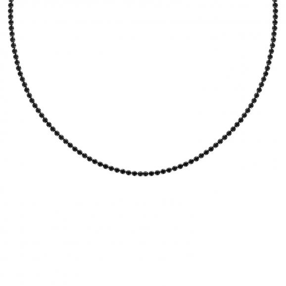 Tennis necklace black stones