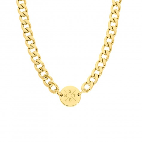 Ketting chunky 4 initials kleur goud