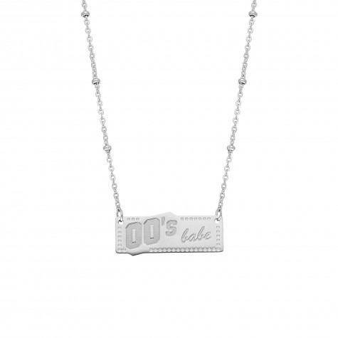00's babe ketting kleur zilver