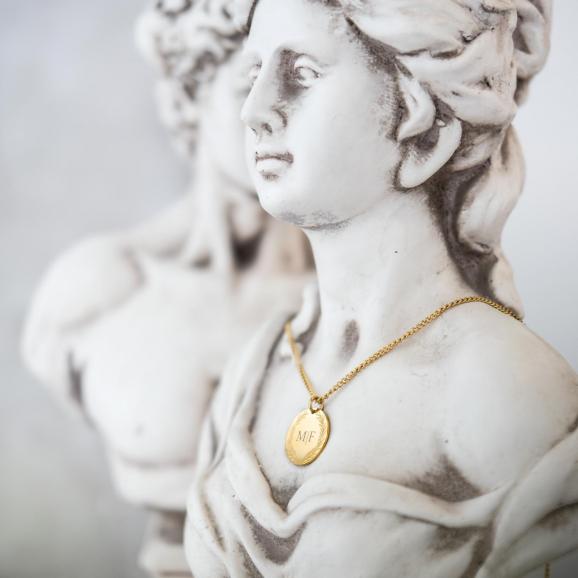 Ketting graveerbare munt goud kleurig