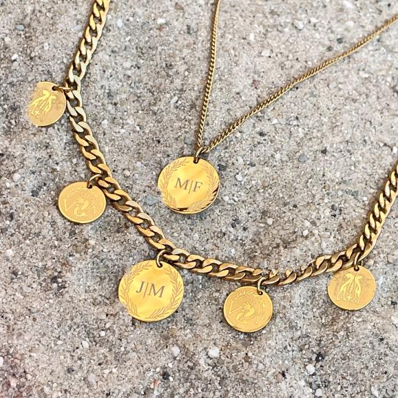 Gouden graveerbare kettingen