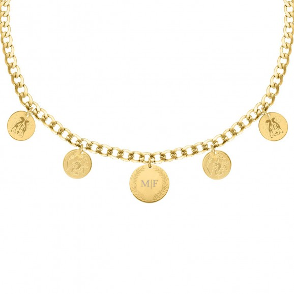 Muntjes ketting personaliseren goud kleurig