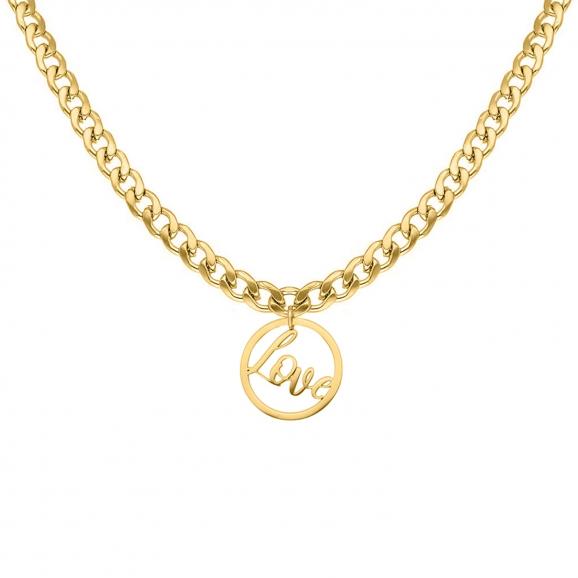 Ketting love hanger goud kleurig