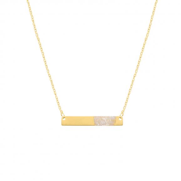 Bar ketting vingerafdruk goud kleurig