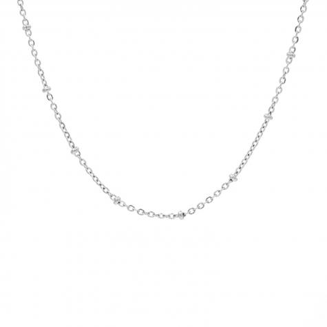 Zilveren minimalistische ketting met bolletjes
