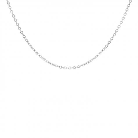 Zilveren minimalistische schakeltjes ketting mini