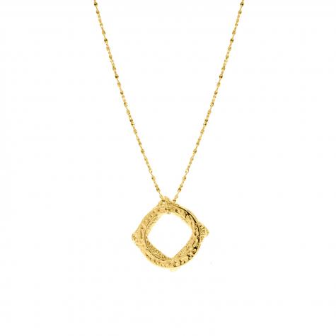Gouden ketting met drie hangertjes