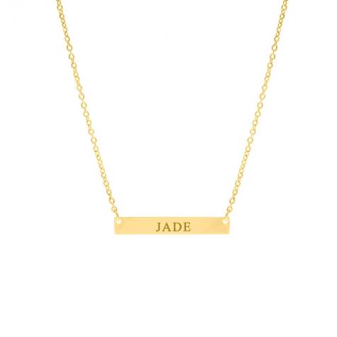Gouden graveerbare bar ketting