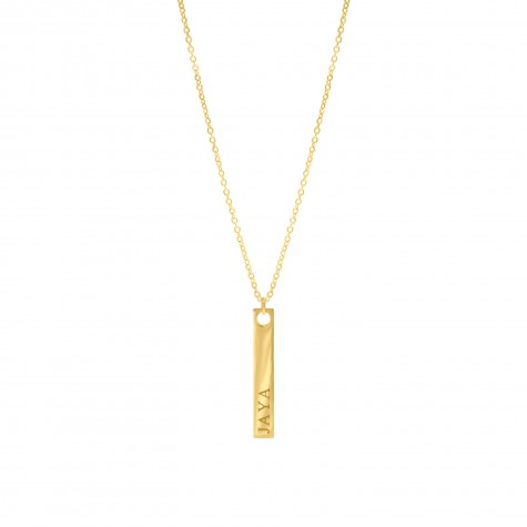Naamketting Bar Goud